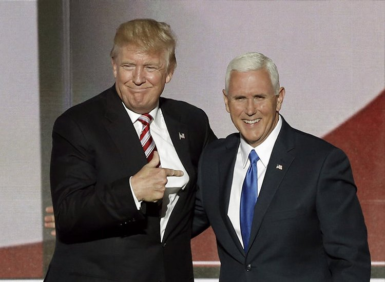 """President Trump and Mike Pence address 'March for Life' saying they favour """"adoption and foster care over abortion"""""""