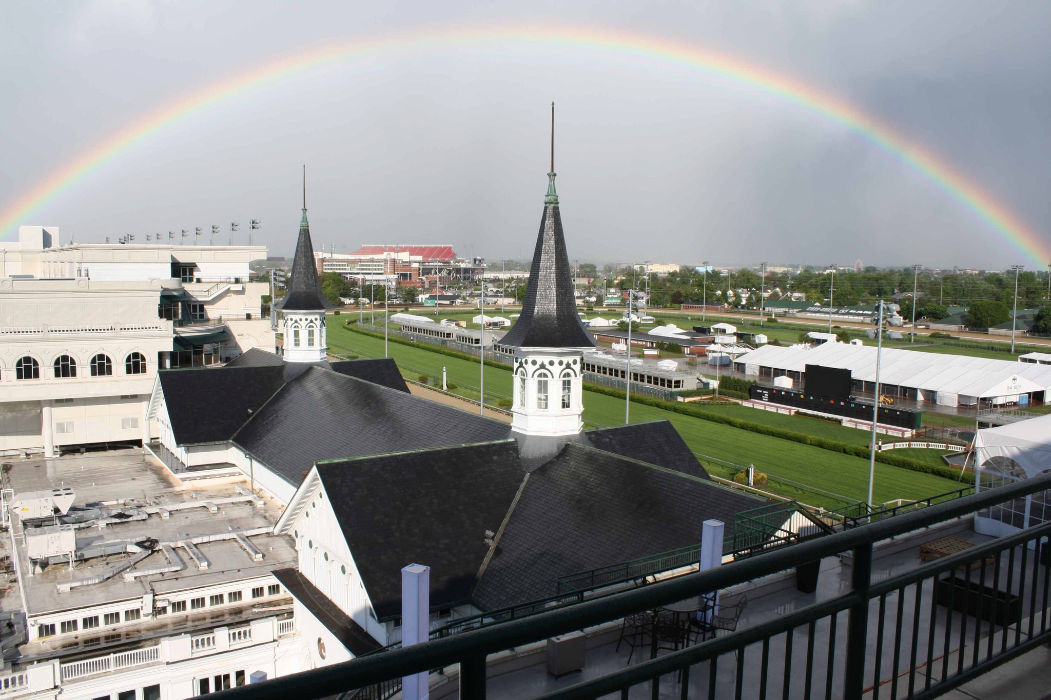 Churchill Downs rainbow