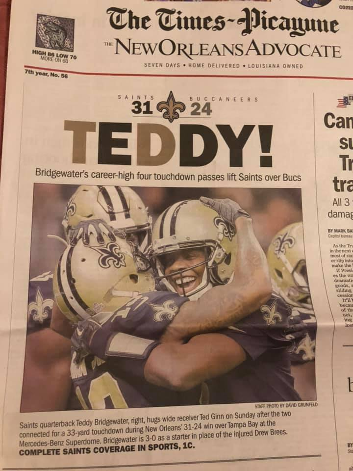 TEddy Bridgewater New Orleans